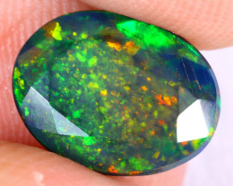 1.80cts Natural Ethiopian Welo Faceted Smoked Opal / NY2391
