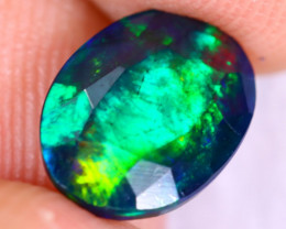 1.53cts Natural Ethiopian Welo Faceted Smoked Opal / NY2392