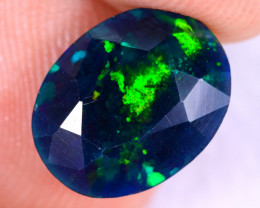 1.95cts Natural Ethiopian Welo Faceted Smoked Opal / NY2394