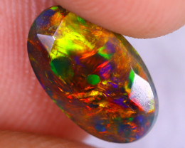 1.43cts Natural Ethiopian Welo Faceted Smoked Opal / NY2408