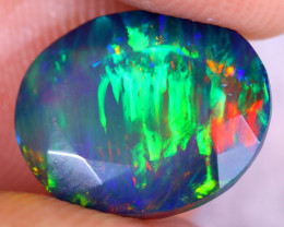 2.86cts Natural Ethiopian Welo Faceted Smoked Opal / NY2423
