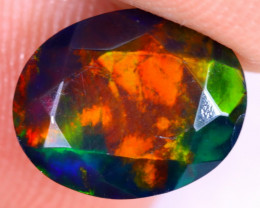 2.09cts Natural Ethiopian Welo Faceted Smoked Opal / NY2437