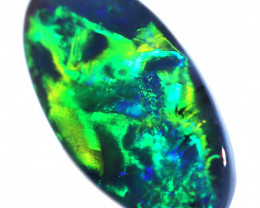 .90 CTS BLACK OPAL GEM ELECTRIC GREEN BRIGHT.  FE-  B506