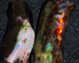 23.80 CRT BROADFLASH NEON COLOR INDONESIAN OPAL WOOD FOSSIL