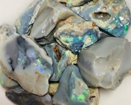 Big Size Colourful Semi Black Seam Opal Rough/Rubs#1286