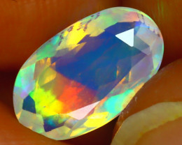 Welo Opal 1.48Ct Natural Ethiopian Play of Color Opal J0301/A44