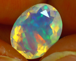 Welo Opal 1.88Ct Natural Ethiopian Play of Color Opal J0302/A44