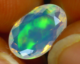 Welo Opal 1.44Ct Natural Ethiopian Play of Color Opal J0306/A44