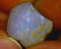 15.60Ct Multi Color Play Ethiopian Welo Opal Rough J0308/R2