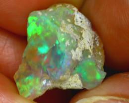 8.48Ct Multi Color Play Ethiopian Welo Opal Rough J0315/R2