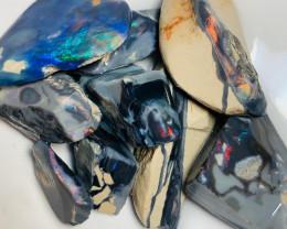 Red & Blue on Black - Rough/ Rub Grawin Seam Material
