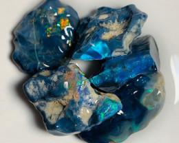 N1 Black Seam Rough Opals with Bright Colour Bar