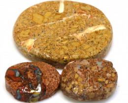 82cts Boulder Pipe Opal Pre Shaped Rub Parcel ADO-8781