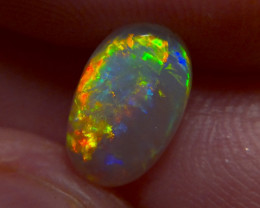 1.50cts LR Top gem crystal opal, rainbow fire, diff patterns in on stone