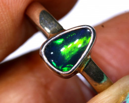 10.3 CTS DOUBLET OPAL SILVER RING    OF-807