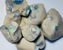 Big Untouched Rough Nobby Opals Showing Bars & Potential