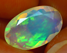 Welo Opal 2.34Ct Natural Ethiopian Play of Color Opal J0504/A44