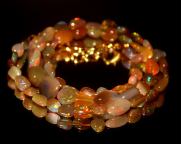 46 Crts Natural Ethiopian Welo Opal Nuggets Necklace 98