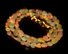 32 Crts Natural Ethiopian Welo Opal Nuggets Necklace 96