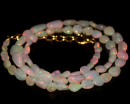 39 Crts Natural Ethiopian Welo Opal Nuggets Necklace 95