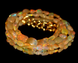 32 Crts Natural Ethiopian Welo Opal Nuggets Necklace 92