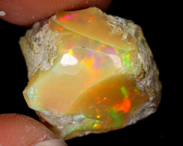 17cts Natural Ethiopian Welo Rough Opal / WR7696
