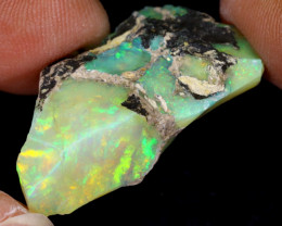 17cts Natural Ethiopian Welo Rough Opal / WR7784