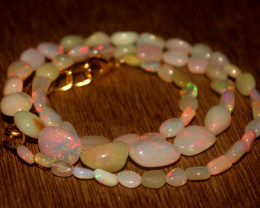 40 Crts Natural Ethiopian Welo Opal Nuggets Necklace 102