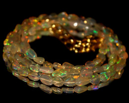 26 Crts Natural Ethiopian Welo Opal Nuggets Necklace 112