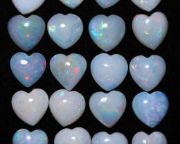 18 Cts Parcel 20 Heart  Shape Fire  Opals  code FO 1178