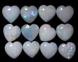 10 Cts Parcel 12 Heart  Shape Fire  Opals  code FO 1183