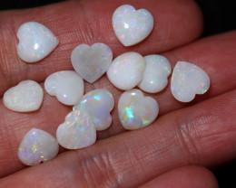 10 Cts Parcel 12 Heart  Shape Fire  Opals  code FO 1187