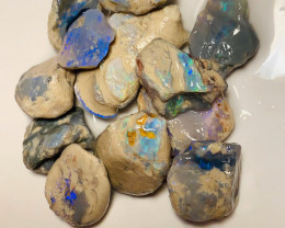 170 Cts Rough Nobby Opals with Colours & Potential to Go Thru