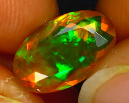 Welo Opal 2.06Ct Natural Ethiopian Play of Color Opal H0805/A44