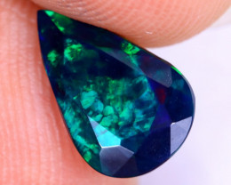 1.05cts Natural Ethiopian Welo Faceted Smoked Opal / NY2450