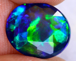 2.66cts Natural Ethiopian Welo Faceted Smoked Opal / NY2462