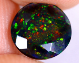 1.11cts Natural Ethiopian Welo Faceted Smoked Opal / NY2465