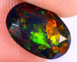 1.59cts Natural Ethiopian Welo Faceted Smoked Opal / NY2469