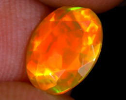 1.08cts Natural Ethiopian Welo Faceted Opal / NY2478