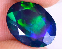 2.41cts Natural Ethiopian Welo Faceted Smoked Opal / NY2493