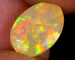 1.37cts Natural Ethiopian Faceted Welo Opal / NY2500