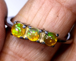 14.45 CTS  ETHIOPIAN OPAL RING STERLING SILVER    OF-896