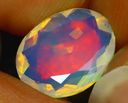 Welo Opal 1.43Ct Natural Ethiopian Play of Color Opal J0901/A44