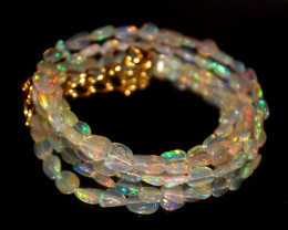 26 Crts Natural Ethiopian Welo Opal Nuggets Necklace 115