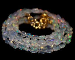 26 Crts Natural Ethiopian Welo Opal Nuggets Necklace 131