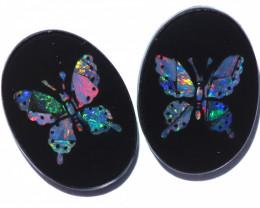 9 Cts  Australian Opal Doublet Mosaic  FO 1299