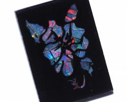 5.5 Cts  Australian Opal Doublet Mosaic  FO1296