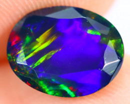 1.61cts Natural Ethiopian Welo Faceted Smoked Opal / HM2544