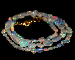 29.40 Crts Natural Ethiopian Welo Opal Nuggets Necklace 151