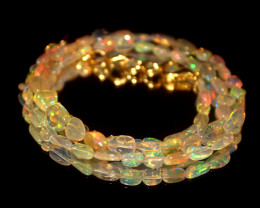 26.65 Crts Natural Ethiopian Welo Opal Nuggets Necklace 142